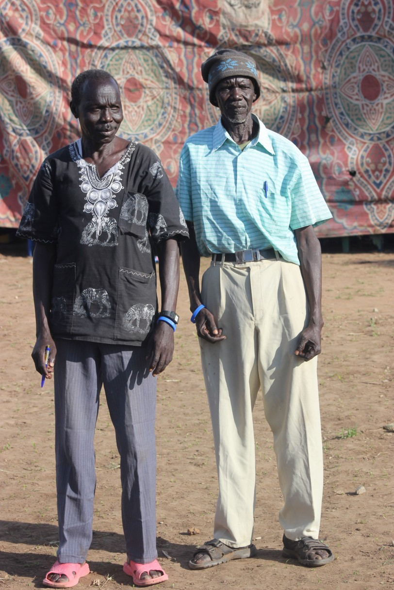 Afred Gordon and Emmanuel Lukudu P 8 finalist at their sixties hoping to join Loka senoir SS 2015